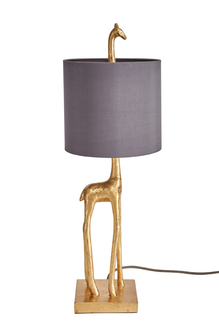 Safari interiors trend 2018 dunelm elements malmo gold giraffe table lamp €63